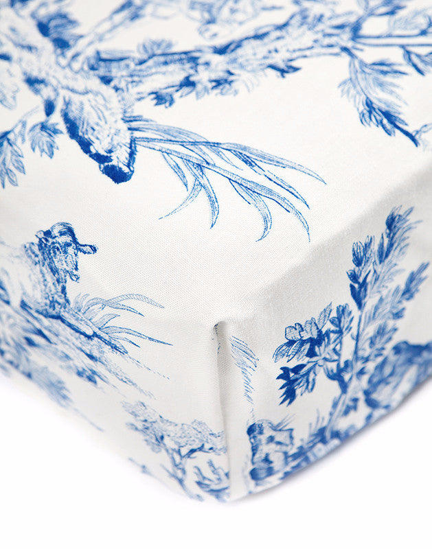 Crib Sheet in Toile