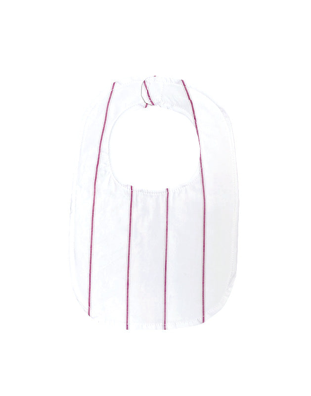Bib in Plum Stripe Cotton