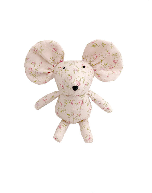 Mouse in Small Pink Floral Cotton