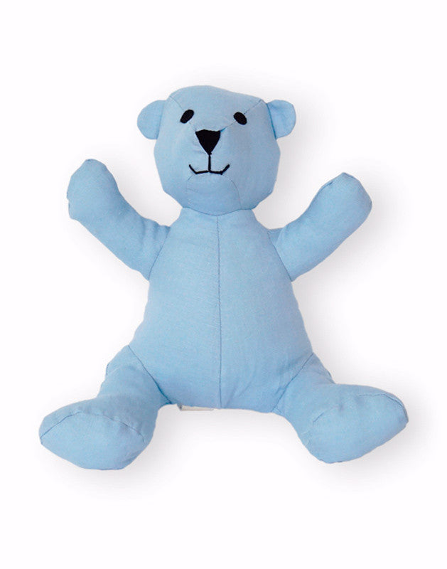 Teddy Bear in Blue Linen