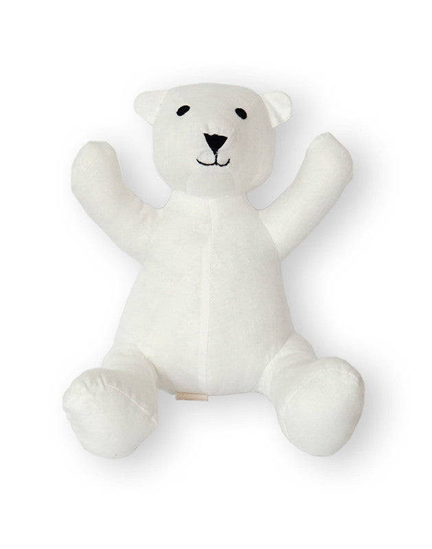 Teddy Bear in Cream Linen