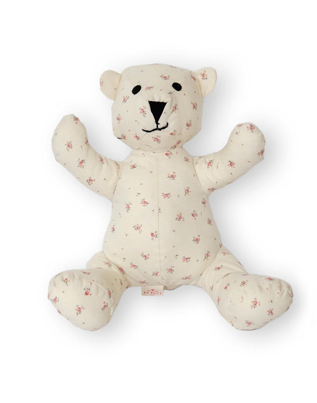 Teddy Bear in Dusty Pink Floral Cotton