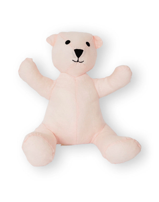 Teddy Bear in Pink Linen