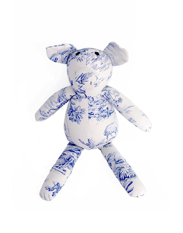 Pig in Toile Cotton