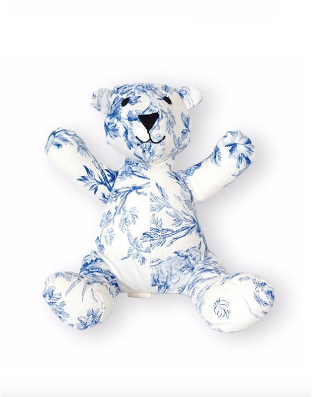 Teddy Bear in Toile Cotton