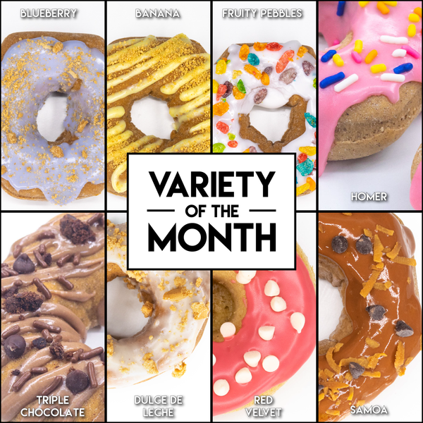 8 Pack - Raised Doughnuts - (10): Variety of the Month