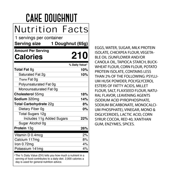 4 Pack - Cake Doughnut - Andes Mint