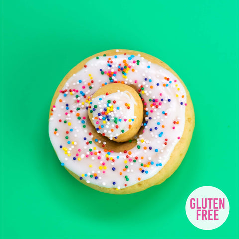 4 Pack - Cake Doughnut - Birthday Cake