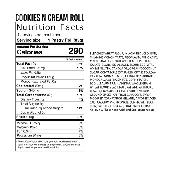 4 Pack - Cookies N' Cream Roll
