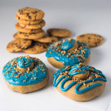 12 Pack (A) - Raised Doughnut - 4 Cookie Dough / 4 Cookie Monster / 4 Oreo