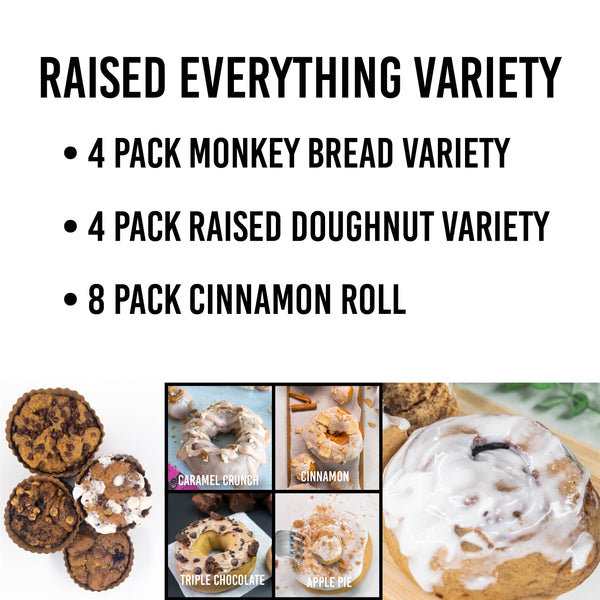 Cinnamon Roll Raised Everything Variety