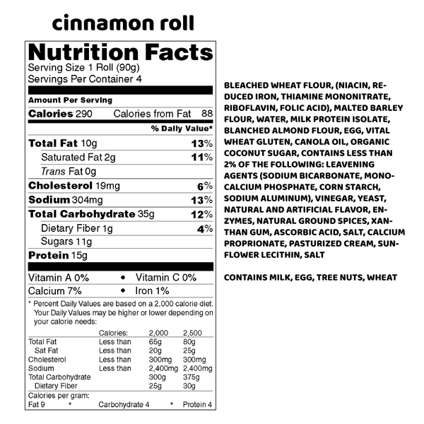 4 Pack - Cinnamon Roll