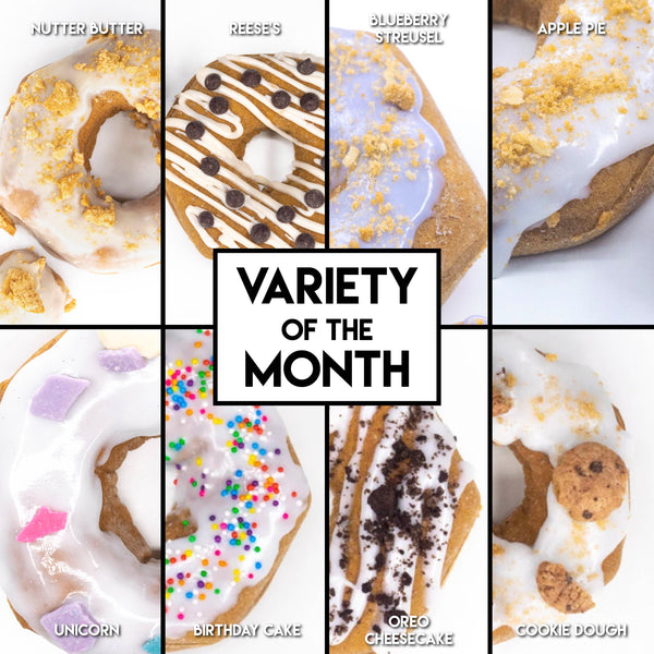 8 Pack - Raised Doughnuts - (7): Variety of the Month