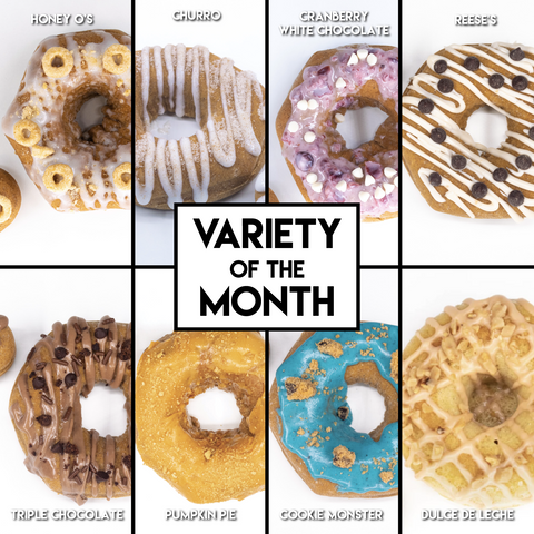 8 Pack - Raised Doughnuts - (6): Variety of the Month