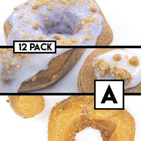 12 Pack (A) - Raised Doughnut - 4 Blueberry Streusel / 4 Apple Pie / 4 Pumpkin Pie