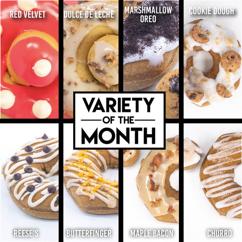 8 Pack - Raised Doughnuts - (2): Variety of the Month