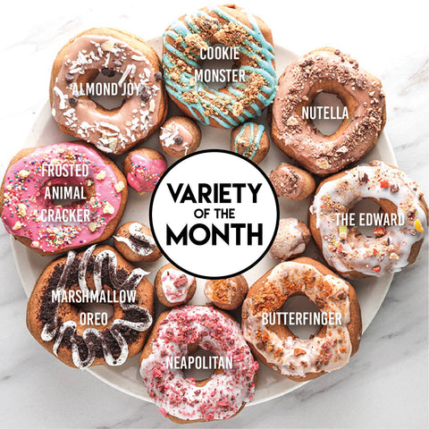 8 Pack - Raised Doughnuts - (3): Variety of the Month