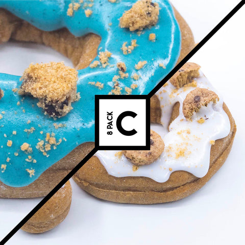 8 Pack (C) - Raised Doughnut - 4 Cookie Dough + 4 Cookie Monster