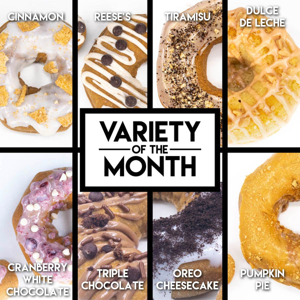 8 Pack - Raised Doughnuts - (8): Variety of the Month
