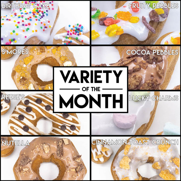 8 Pack - Raised Doughnuts - (4): Variety of the Month