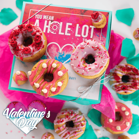*PRE-ORDER* Valentines Day 12 Pack Raised Doughnuts