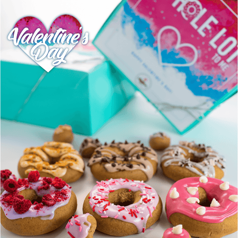 *PRE-ORDER* Valentines Day 6 Pack Raised Doughnuts