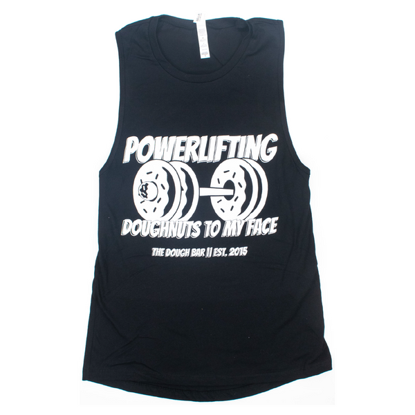 Powerlifting Doughnuts To My Face | Black Muscle Tank