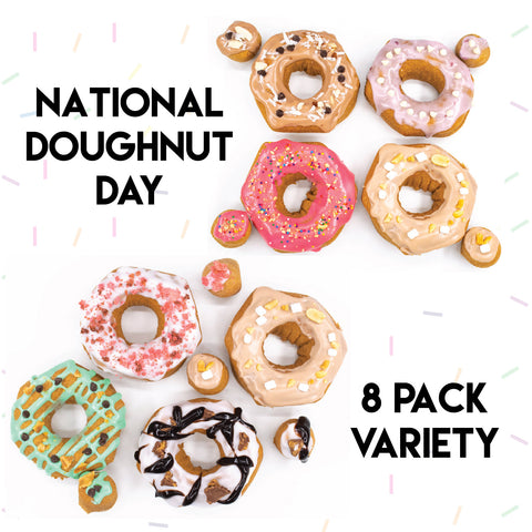 8 Pack - Raised Doughnut - National Doughnut Day Week Variety