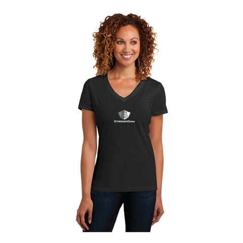 V-neck Short Sleeve Ladies Perfect Blend Strong4Sam Tee