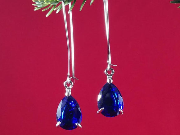 Cobalt Blue Covergirl Earrings