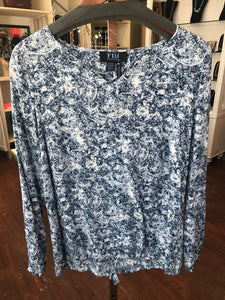 FDJ Blue Paisley Top