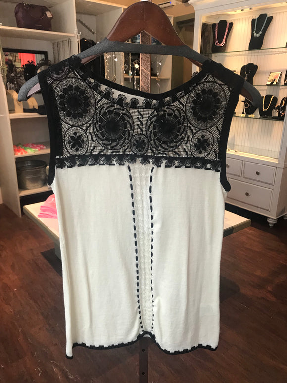 Katherine Barclay Lace Knit Tank