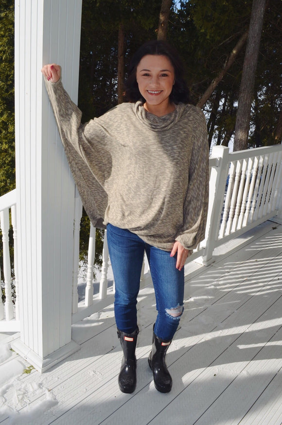 143 Story Turtleneck Dolman Sleeve Top