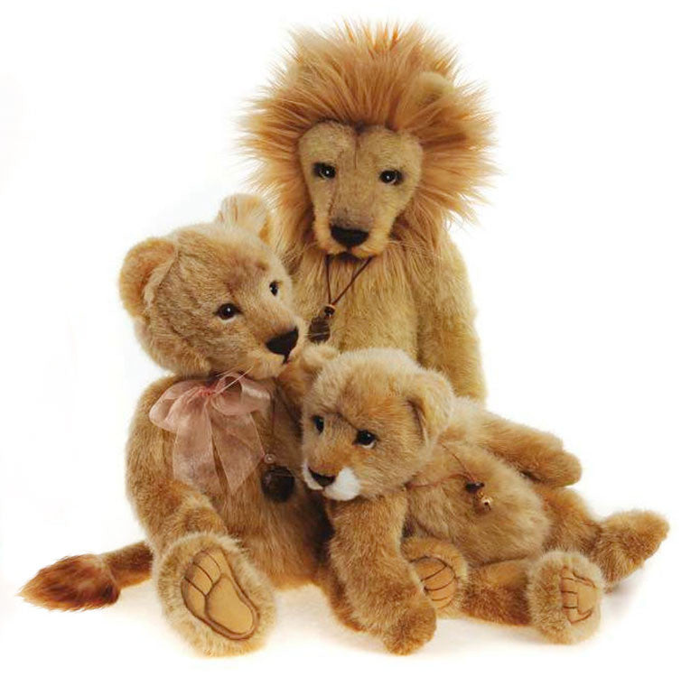 Charlie Bears Lion Family Linus Lyra Savannah