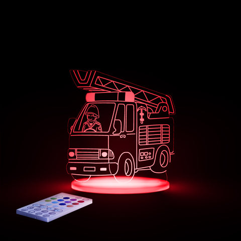 Children's LED Night Light by Aloka Fire Engine