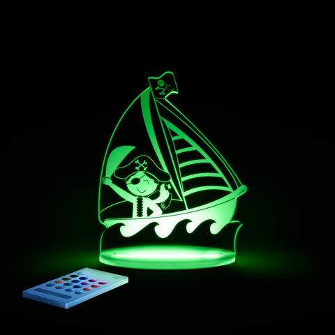 Children's LED Night Light by Aloka Pirate