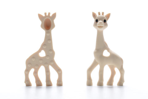 Beige Silicone Teething Necklace Giraffe