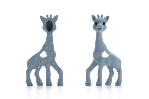 Grey Silicone Teething Necklace Giraffe