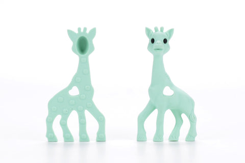 Mint Silicone Teething Necklace Giraffe