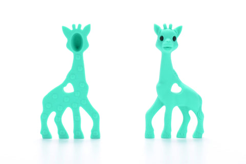Aqua Silicone Teething Necklace Giraffe