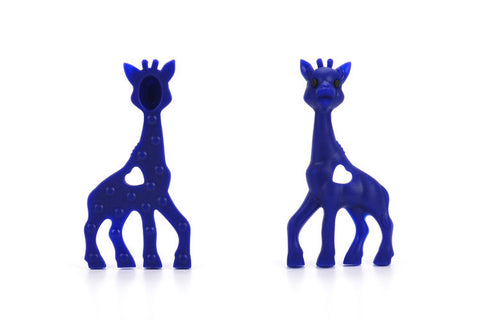 Navy Silicone Teething Necklace Giraffe