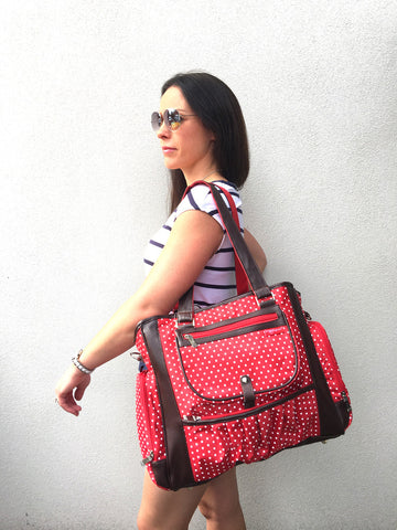 Ms Annabelle Baby Nappy Bag (Red or Black)