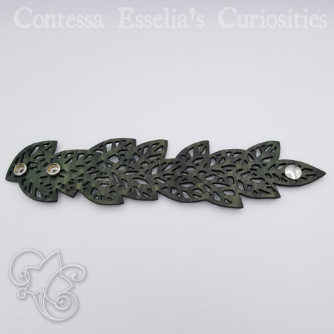 Leather Leaf Bracelets