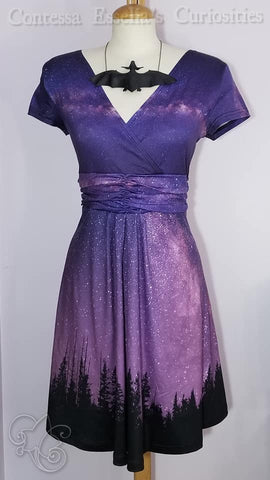 Night Sky Wrap Dress