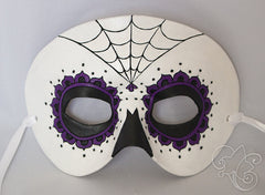 Day of the Dead / Dia de los Muertos Leather Mask - Purple