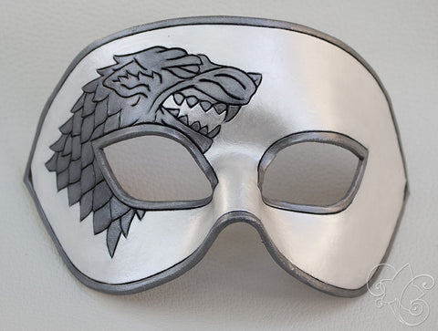 GoT Stark Large Leather Mask - Winter is Coming