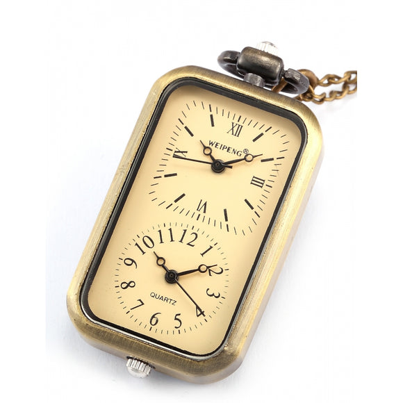 Tablet Dual Time Zone Pocket Watch