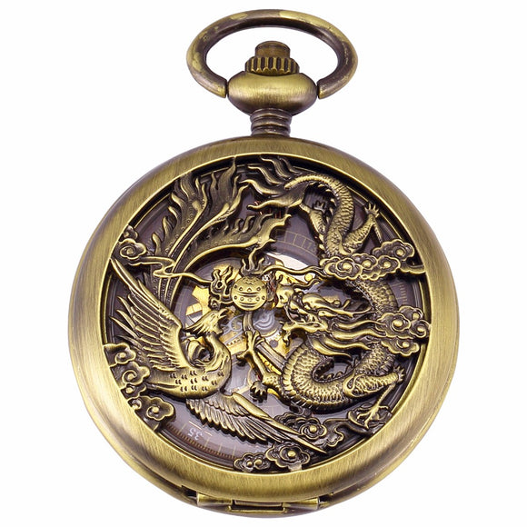 Dragon Roman Jewel Hand Winding Clock