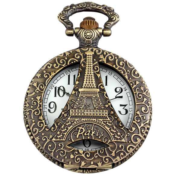 Eiffel Tower Quartz Pocket Watch