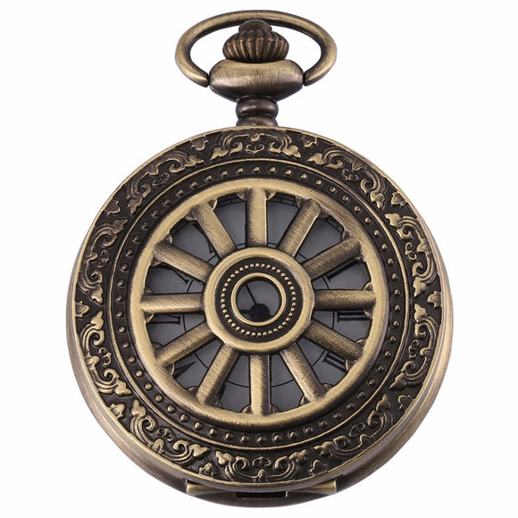Hunter's Roman Analog Pocket Watch